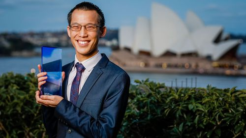 Eddie Woo after being awarded 2018 NSW Local Hero last night (Image: AAP)