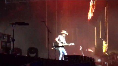 Singer performs before realising shooting at Las Vegas festival