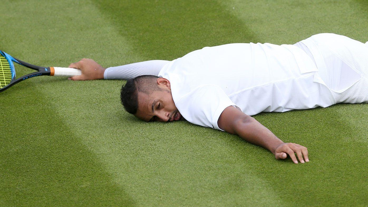 Nick Kyrgios edges Jordan Thompson in five-set Wimbledon epic