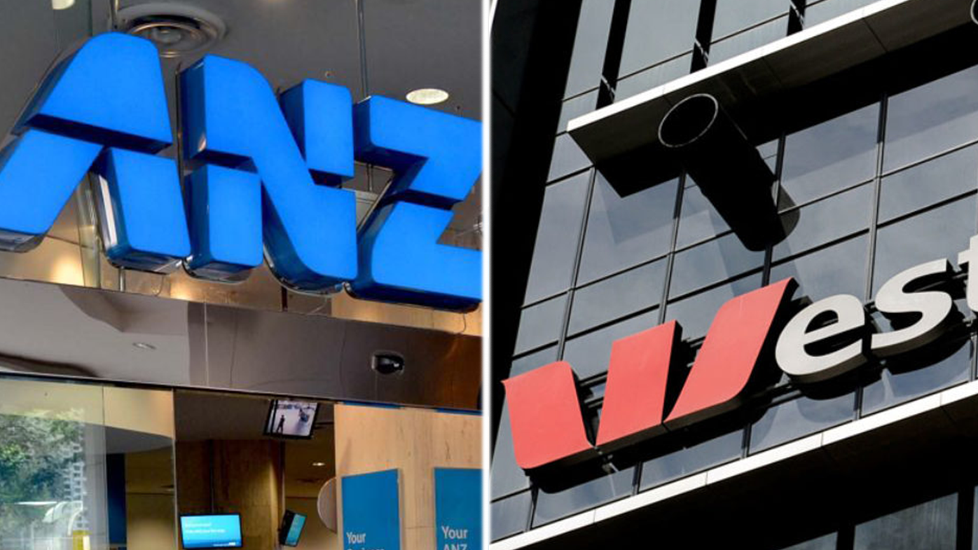ANZ and Westpac customers have had their service disrupted on the busiest shopping day of the year.