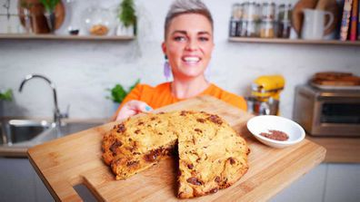 Jane de Graaff's giant choc-chip sweet potato skillet cookie