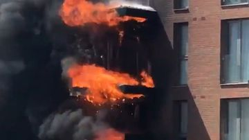 'Apocalyptic' fire engulfs block of flats in London's north-west