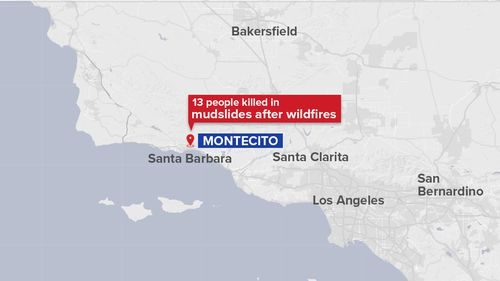 The mudslide hit a region of north-west Los Angeles that is home to some of the world's biggest stars. (9NEWS)