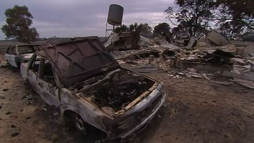 The couple were left with nothing but the clothes on their back and a car. (9NEWS)