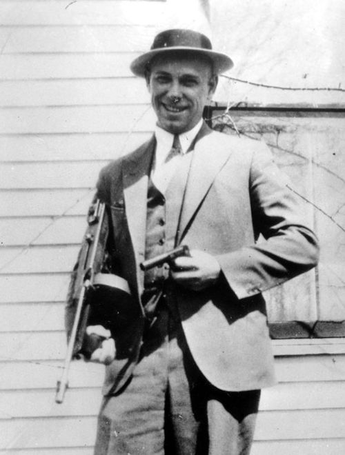 John Dillinger was a well-known gangster in the Chicago area.