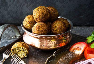 Deep-fried Indian meatballs