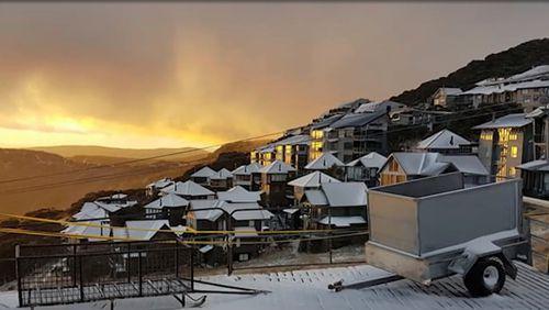 Mount Hotham in Victoria was also snowed on.(Weatherzone)