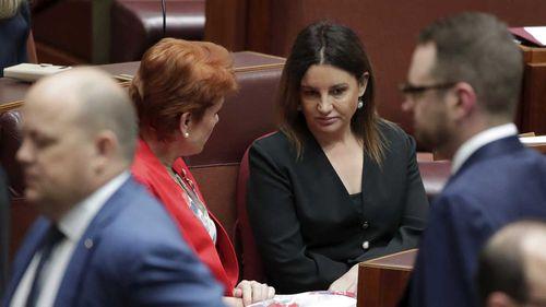 Pauline Hanson and Jacqui Lambie speak during the medevac debate.