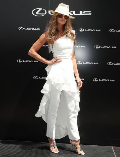 Supermodel Elle Macpherson at Melbourne's Derby Day, 2018