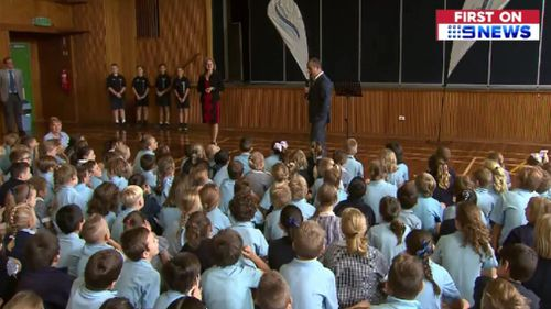 Bonbeach Primary's students where thrilled by the special assembly. (9NEWS)