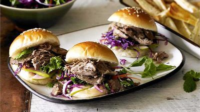 "<a href=""http://kitchen.nine.com.au/2017/01/12/12/52/pear-and-sage-lamb-sliders"" target=""_top"">Pear and sage lamb sliders</a><br> <br> <a href=""http://kitchen.nine.com.au/2017/01/12/13/24/tv-chef-poh-on-three-deliciously-lazy-ways-with-summer-lamb"" target=""_top"">RELATED: Poh on three deliciously lazy ways with summer lamb</a>"