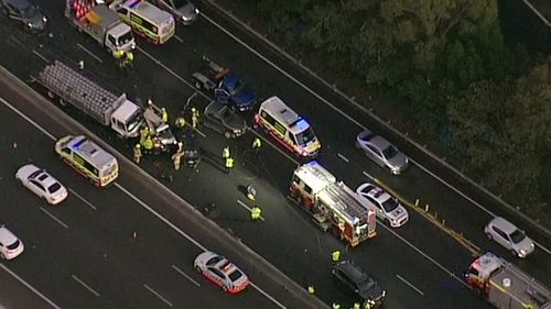 The crash occurred on the M4 at Mays Hill.