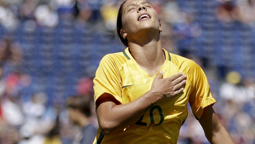 Sam Kerr in action for the Matildas. (AAP)