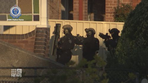 Police arrived at the Granville home at 6am today.