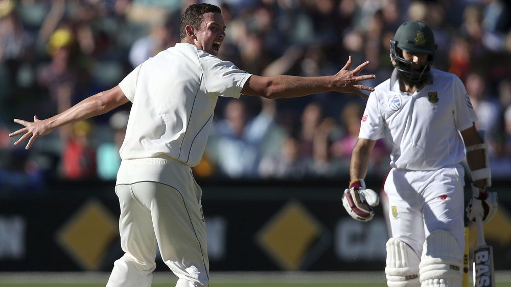 Hazlewood gets Amla again in Test series