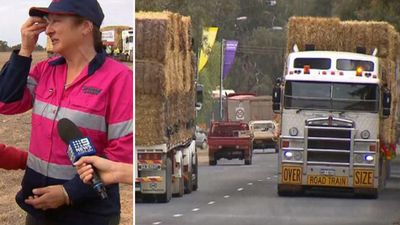 Farmers reduced to tears by $50k hay bale delivery