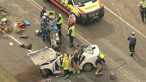 The cars collided head-on near Singleton.