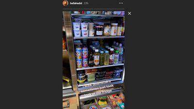Bella Hadid shares glimpse inside her fridge