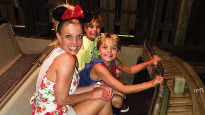 Britney Spears and her sons celebrated from the happiest place on earth, Disneyland. (Instagram)