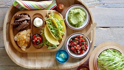 "Recipe: <a href=""http://kitchen.nine.com.au/2016/05/13/12/34/party-platters-taco-fiesta"" target=""_top"">Party platters: Taco fiesta</a>"