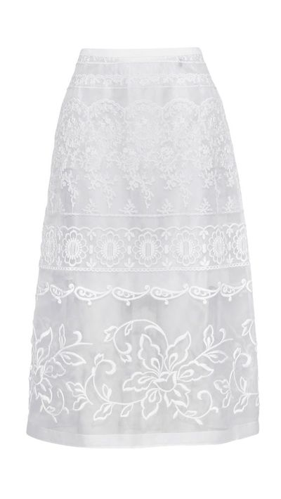 "<a href=""http://www.net-a-porter.com/product/516732/No_21/embroidered-silk-organza-skirt"" target=""_blank"">Embroidered Silk Organza Skirt, $908, No. 21</a>"