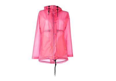 """<a href=""""http://www.farfetch.com/au/shopping/women/Hunter-clear-hooded-raincoat-item-11286208.aspx"""" target=""""_blank"""">Raincoat, $255, Hunter at Farfetch.com</a><br><br>"""