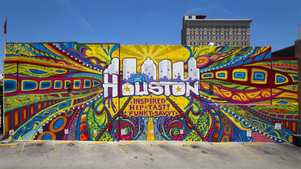 Houston graffiti wall