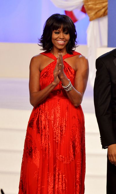 Michelle Obama wearing Jason Wu at the 57th Presidential Inauguration