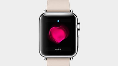 The Apple Watch can be controlled by touch-screen or the Digital Crown dial. Tap the watch with two fingers and it can show you your heartbeat. You'll also be able to send friends simple sketches or tap it to let someone know you're thinking of them - kind of like Facebook's 'poke'.