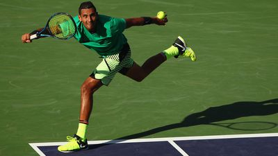 Kyrgios goes all out to get it done