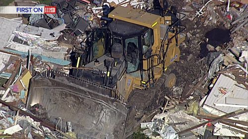 The bulldozer was allegedly stolen from a local plant. (9NEWS)