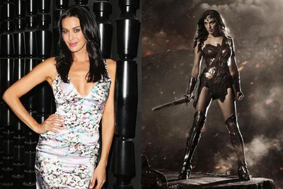 Megan Gale was originally linked a few years ago to star as Wonder Woman in the big budget <i>Justice League</i> movie that never ended up happening.<br/><br/><i>Fast & Furious</I> star Gal Gadot will star as Wonder Woman in Zack Snyder's upcoming blockbuster <i>Batman v Superman: Dawn of Justice</i>.<br/><br/>Left: Megan Gale / Getty. Right: Gal Gadot as Wonder Woman / Warner Bros