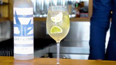 "Recipe: <a href=""https://kitchen.nine.com.au/2017/11/24/10/15/le-grand-fizz-cocktail"" target=""_top"">Le Grand Fizz cocktail</a>"