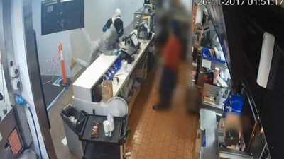 McDonald's workers terrified after masked bandit hold-up