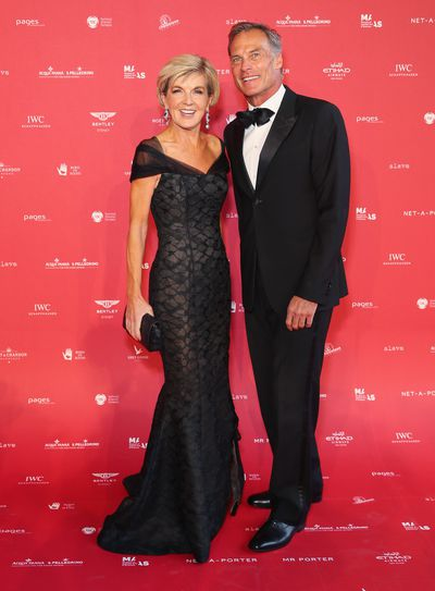 The Hon. Julie Bishop, MP  in Rachel Gilbert at the 2018 MAAS Centre for Fashion Ball