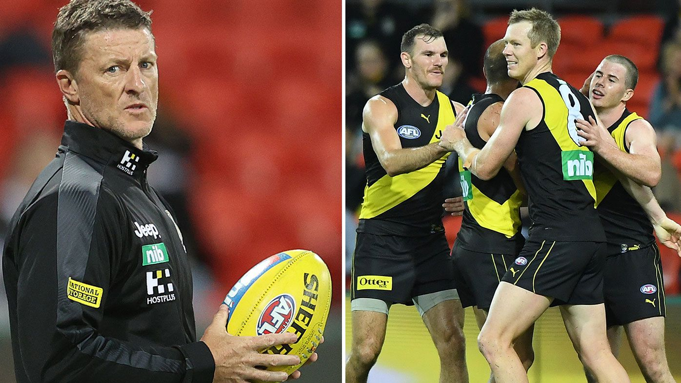 Furious Damien Hardwick spray sparks Richmond in hard-fought win over Fremantle