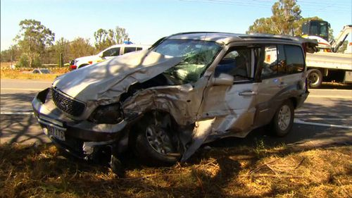 The driver of the four-wheel drive was also injured. (9NEWS)