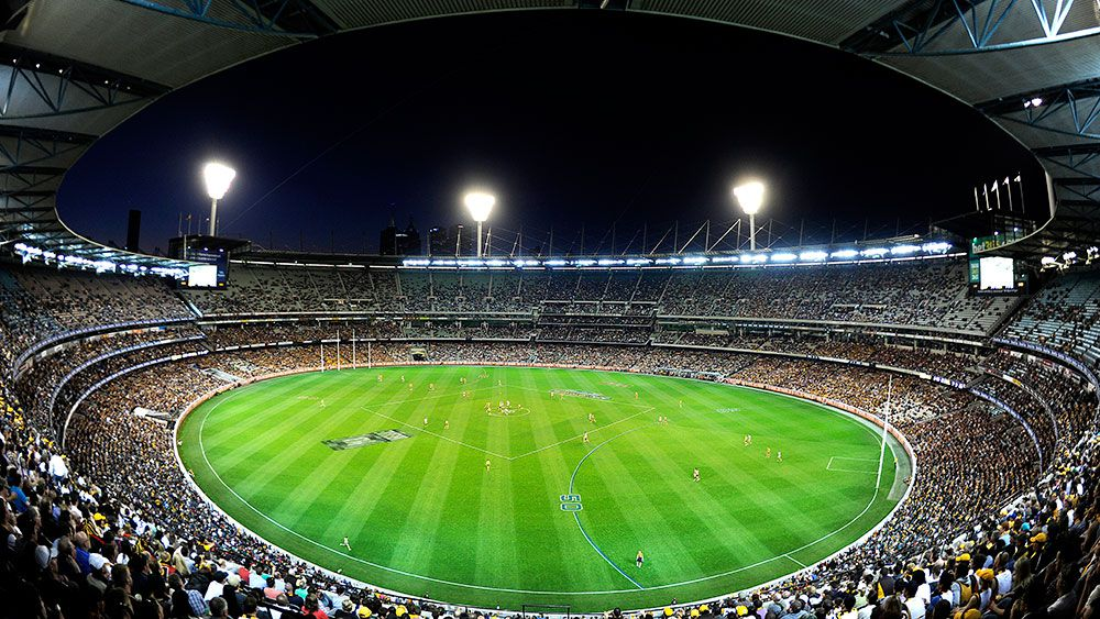The MCG during a twilight preliminary final. (AAP)