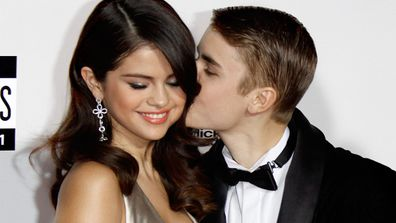 Selena Gomez and Justin Bieber at the 2011 American Music Awards.