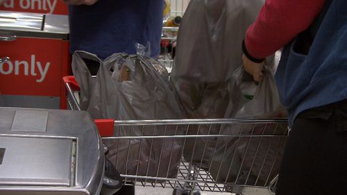Woolworths has banned plastic bags in all its stores.