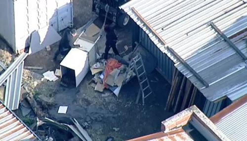 Cleaners at a storage factory in Melbourne's south-east made the grisly discovery of human remains today. Picture: 9NEWS.