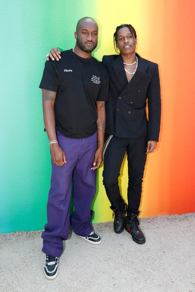 Virgil Abloh and A$AP Rocky at Louis Vuitton Menswear Spring/Summer '19