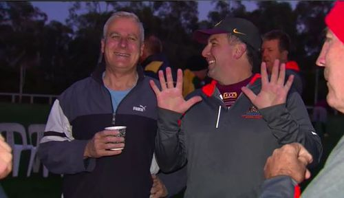Deputy Prime Minister Michael McCormack was up bright and early for the annual State of Origin clash. Picture: 9NEWS
