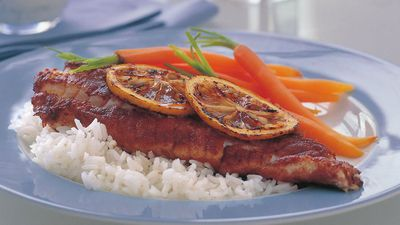 "<a href=""http://kitchen.nine.com.au/2016/05/17/20/46/spiced-fish-with-lemon-yogurt-sauce"" target=""_top"">Spiced fish with lemon yogurt sauce<br> </a>"
