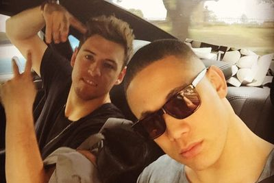 @itisnathaniel: He's following me around like a bad smell! We're coming for you #ARIAs #Arias2014 #YOU @taylor_henders0n