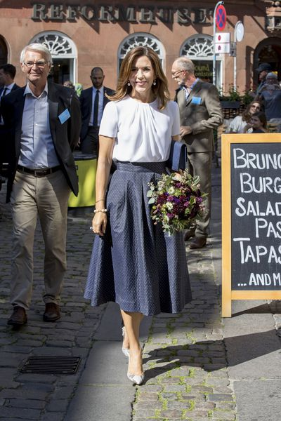 Crown Princess Mary of Denmark at the opening of the National Care Centre in Copenhagen, Denmark, August, 2017