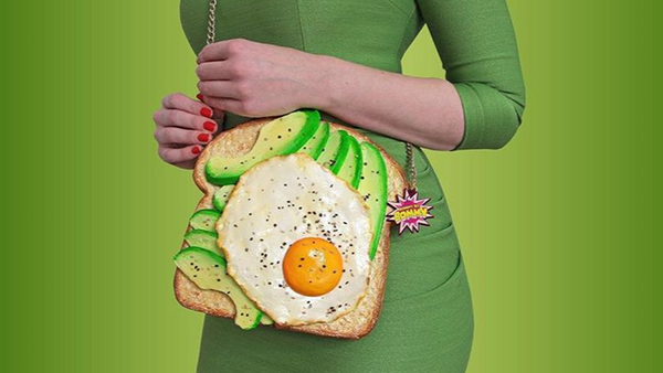This designer creates avocado toast purses