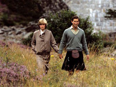 Prince Charles and Princess Diana on their honeymoon, 1981