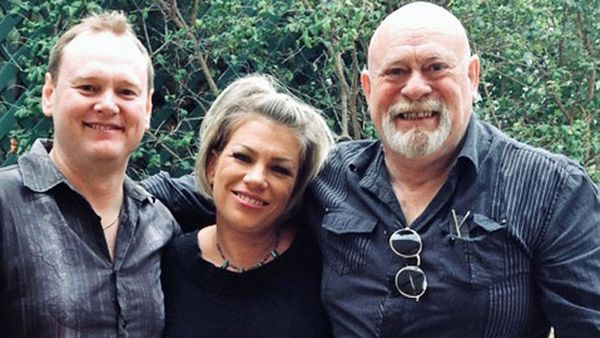 After decades of neither knowing the other existed, mother-of-three Clare Allen, 40, flew to the other side of the country in Perth to meet her biological father Aronn Carden, who she found with the help of Luke Basset  (left).