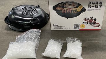 Port Botany BBQ heaters ice drug bust